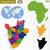 detalhado · vetor · mapa · Burundi · cidade · educação - foto stock © volina