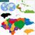 színes · Karib · térkép · országok · diagram · vidék - stock fotó © volina