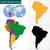Argentína · Föld · izolált · piros · Föld · 3d · illusztráció - stock fotó © volina