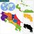 kaart · Costa · Rica · achtergrond · Rood · lijn · vector - stockfoto © volina
