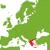 Grecia · mapa · ubicación · fondo · silueta · país - foto stock © Volina