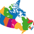 canada map stock photo © volina