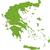 zöld · Görögország · térkép · adminisztratív · fővárosok · háttér - stock fotó © Volina