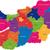 ハンガリー · 地図 · 行政の · 共和国 · グラフ · 国 - ストックフォト © Volina