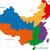 mapa · tibete · China · abstrato · fundo · comunicação - foto stock © volina
