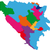 Bosnia · Herzegovina · mapa · político · país · bandera · ilustración - foto stock © volina