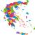Görögország · térkép · adminisztratív · háttér · sziluett · vidék - stock fotó © Volina
