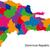harita · Dominik · Cumhuriyeti · siyasi · birkaç · bölgeler · soyut - stok fotoğraf © volina