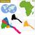 mapa · Eritrea · político · resumen · mundo - foto stock © volina