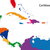 harita · Barbados · yeşil · model · daire · caribbean - stok fotoğraf © volina