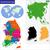 Coréia · do · Sul · mapa · político · país · vizinhos - foto stock © volina
