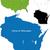 térkép · Wisconsin · kék · utazás · USA · izolált - stock fotó © volina