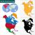 地図 · ジャマイカ · 政治的 · いくつかの · 抽象的な · 世界 - ストックフォト © volina