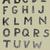 vetor · alfabeto · funk · cartas · fonte · arte - foto stock © vook