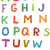 colourful woodcut font set stock photo © vook