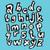 alfabeto · azul · ilustração · eps8 - foto stock © vook