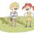 pequeno · ilustração · cantando · casal · eps10 · vetor - foto stock © VOOK