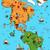 ilustrado · mapa · norte · américa · engraçado · típico - foto stock © vook