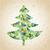 grunge · mozaik · noel · ağacı · tebrik · kartı · küçük · parçalar - stok fotoğraf © vook