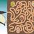 verme · labirinto · desenho · animado · labirinto · jogo · ilustração - foto stock © vook
