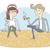 pequeno · ilustração · casal · eps10 · vetor - foto stock © VOOK