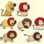 ayarlamak · erkek · aslan · karakter · örnek · arka · plan - stok fotoğraf © vook