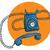 vintage · telefone · ilustração · eps10 · vetor - foto stock © vook