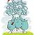 cartoon · фон · слон · шаблон · животного · графических - Сток-фото © vook
