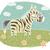 rajz · zebra · virágok · illusztráció - stock fotó © vook