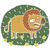 hand drawn grunge illustration of cute lion on floral background stock photo © vook