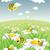 набор · Cartoon · Cute · пчел · небе · облака - Сток-фото © vook