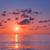 naplemente · tengerpart · gyönyörű · tenger · Görögország · természet - stock fotó © vrvalerian