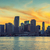 city of miami florida at sunset stock photo © vwalakte