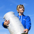 woman farmer in blue sky stock photo © vwalakte