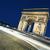Триумфальная · арка · ночь · Париж · Франция · закат · улице - Сток-фото © vwalakte