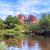 katedrális · kő · tükröződés · távolság · medence · víz - stock fotó © vwalakte