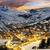 ski resort in french alpssaint jean darves stock photo © vwalakte