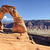 sunset at famous delicate arch stock photo © vwalakte
