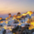 Panoramic view of Oia at sunset stock photo © vwalakte