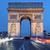 view · noto · Arc · de · Triomphe · tramonto · Parigi · sole - foto d'archivio © vwalakte