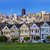 view from alamo square at twilight stock photo © vwalakte