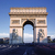 horizontal view of famous arc de triomphe stock photo © vwalakte