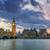 panoramisch · Big · Ben · zonsondergang · klok · toren - stockfoto © vwalakte