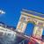 arc de triomphe at night stock photo © vwalakte