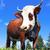 vaca · alpes · imagem · verde · prado · céu - foto stock © vwalakte