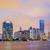 város · Miami · Florida · naplemente · üzlet · lakóövezeti - stock fotó © vwalakte