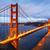 Golden · Gate · nacht · hemel · kunst · oceaan · brug - stockfoto © vwalakte