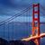 San · Francisco · Golden · Gate · Bridge · crépuscule · nord · Californie · bleu - photo stock © vwalakte