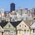 sziluett · festett · hölgyek · San · Francisco · városkép · történelmi - stock fotó © vwalakte