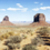 panoramic view of famous monument valley stock photo © vwalakte